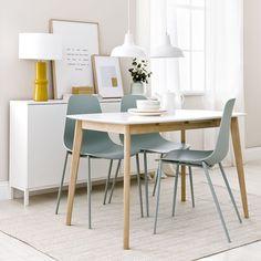 Thana mesa extensible / Una mesa bonita y práctica Thana, una mesa extensible en dos acabados, blanco y madera. Ideal para la cocina o el comedor. Gracias a su extensible te permitirá ampliar su capacidad siempre que lo necesites.