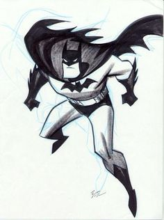 Batman by Bruce Timm. Bruce Timm is my inspiration for my art, I sketch my own versions of famous film and TV characters, my style is similar Bruce Timm, Comic Book Artists, Comic Artist, Comic Books Art, Comic Character, Character Design, Harley Quinn, Batman And Superman, Batman Cartoon