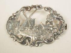 Dutch silver brooch J. Niekerk 835/1000 by LizSilverTreasures