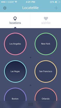 LocateMe: iOS7 App Design by Exert /  David, via Behance