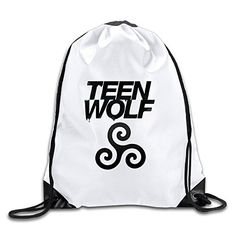 964b86bb89ce CACA Teen Wolf Logo Drawstring Backpack Sack Bag -- Read more at the image  link