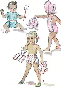 1950s Childs Playsuit Pattern Simplicity 2892 Bib Playsuit Diaper Shorts Bolero Bonnet Boys or Girls Vintage Sewing Pattern Breast 20