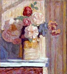 Pierre Bonnard - Vase of Flowers / nice signs - Juxtapost Pierre Bonnard, Henri Matisse, Flower Vases, Flower Art, Flowers, Gouache, Paintings I Love, Indian Paintings, Still Life Art