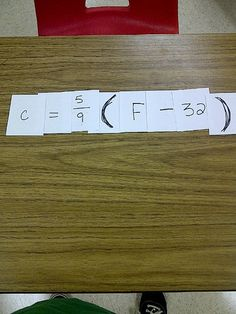 Hands on Math in High School: Made4Math #3 - Literal Equations - great idea!