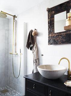 Love the copper shower