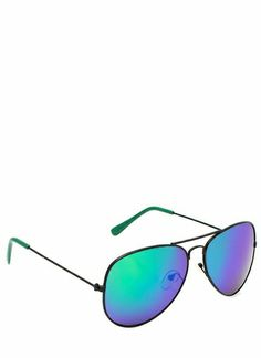 Colorful Tip Aviator Sunglasses omg love these colors together really need summer time again I'm ready for the heat waves!!!