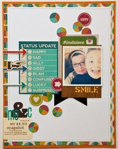 #papercraft #scrapbook #layout  Valerie for @Jill Meyers Guevara Soup with Spicy Social Soup line.