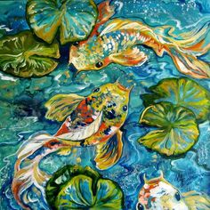 3d Art Drawing, Art Drawings, Koi Art, Animal Paintings, Fish Paintings, Art Portfolio, Art Forms, Bunt, Art Inspo