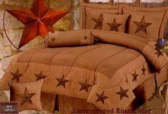 Texas Western Decor | Embroidered Star Bedding Set