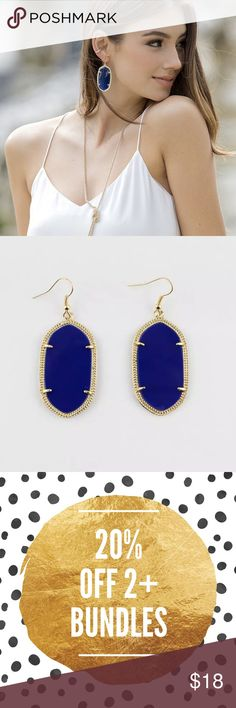 Geometric Royal Blue and Gold Earrings Brand new in packaging Geometric style Royal blue with 18K Gold plated trim earrings. Pic 1 for modeling purposes only. Jewelry Earrings