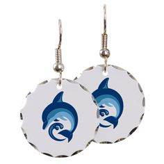 Dolphin pint products Earring Circle Charm