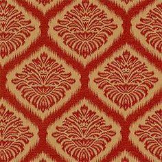 Red Mumbai Ikat Fabric