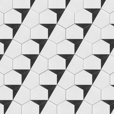 Merola Tile Peak Hex Nero Encaustic in. Porcelain Floor and Wall Tile sq. / case)-FCDPKNX - The Home Depot Mosaic Tiles, Wall Tiles, Artistic Tile, Futuristic Architecture, Stone Tiles, Geometric Shapes, Tile Floor, Home Improvement, Flooring