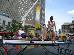 Elastic Gymnastics (trampoline by Quevillon Gymnastics Trampoline, Fair Grounds, Fitness, Fun, Travel, Viajes, Destinations, Traveling, Trips