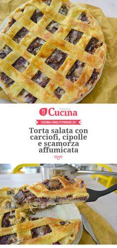 Torta salata con carciofi, cipolle e scamorza affumicata della nostra utente Martina. Unisciti alla nostra Community ed invia le tue ricette!