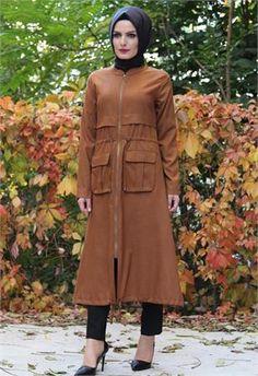 Tesettür giyim-Tesettür Kap-modeli-Hardal-8362