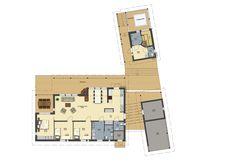 Herrala Särkänherra loma-asunnon  pohjapiirustus Floor Plans, Layout, Flooring, How To Plan, House, Inspiration, Biblical Inspiration, Page Layout, Haus
