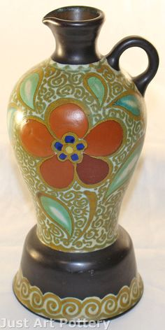 Gouda Pottery 1924 Gerla Ewer (Artist Signed) from Just Art Pottery