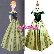 Disney Frozen - Anna dress Movie Costume cosplay [G1240]