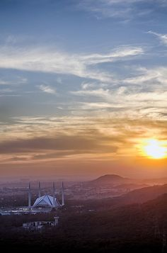 Sunset over Faisal Mosque, Islamabad, Pakistan. by asad_malik, via Flickr - Pakistan