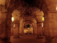 The basement of Diocletian's Palace, Split, Croatia