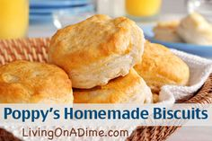 A classic easy biscuit recipe that will fill the house with sweet aromas of home cooking. Best Baking Powder Biscuits Recipe from Grandmothers Kitchen. Best Baking Powder, Baking Powder Biscuits, Buttermilk Biscuits, Fluffy Biscuits, Homemade Buttermilk, Angel Biscuits, Kentucky Biscuits, Southern Biscuits, Homemade Biscuits Recipe