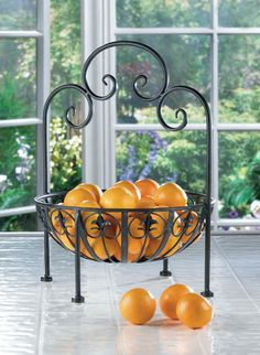 Decorative Wrought Iron Fleur-de-lis Design Standing Bowl