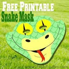 Free Printable Snake Mask Template - Itsy Bitsy Fun