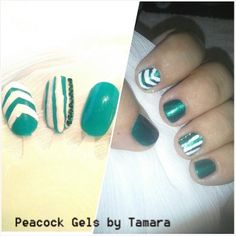 Practice Inspiration Gel and Polish. Chevron and Edge For Manicure And Pedicure