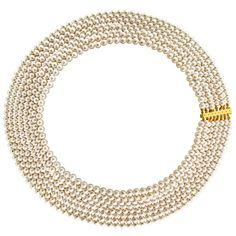 Κολιέ με λευκά μαργαριτάρια και χρυσό κούμπωμα K18 - M122340