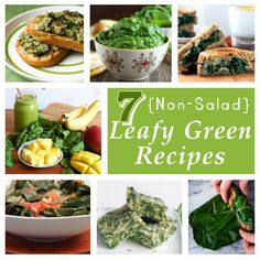7 {Non-Salad} Leafy Greens Recipes from DIY Home Sweet Home Project
