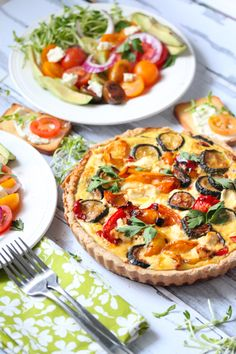 A Picnic with Quiche and Salad | THE KITCHENTHUSIAST
