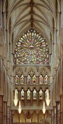 to go back to:  South rose window of Westminster Abbey, London