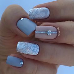 Cute Nail Designs For Spring – Your Beautiful Nails Classy Nails, Stylish Nails, Trendy Nails, Elegant Nails, Classy Nail Designs, Nail Art Designs, Nails Design, Winter Nails, Spring Nails