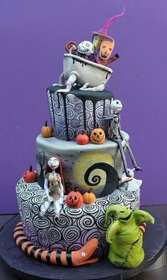 Awesome Nightmare Before Chtistmas Cake :)