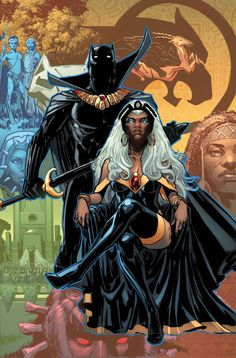 Marvel Comics August 2016 Covers and Solicitations - Comic Vine Black Panther Marvel, Black Panther Storm, Black Panther Art, Black Art, Black Girl Art, Black Women Art, Comic Anime, Art Anime, Comic Art