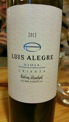 Luis Alegre 2013 - DO Ca Rioja - Bodegas Luis Alegre - Vino tinto con crianza, envejecido 14 meses en una selección de robles Missouri y Francia - 90% Tempranillo, 5% Graciano y 5% Garnacha - 14%