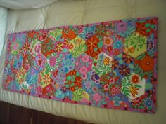 Hexie quilt, tablerunner