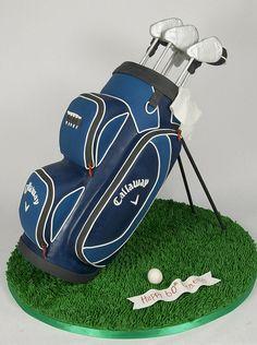 golf bag cake toronto by www.fortheloveofcake.ca, via Flickr