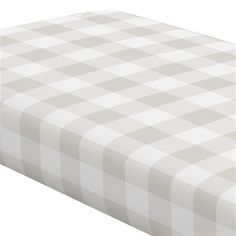 Crib Fitted Sheet in and French Gray and White Buffalo Check by Carousel Designs.