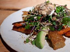 Roast carrot and avocado salad at ABC Kitchen in Gramercy.