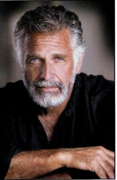 "Jonathan Goldsmith, 75 years old. He is one who does all those beer commercials that say he is "" The Most Interesting Man in the World"""