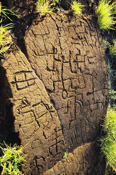 Puako Petroglyphs Photograph- I like the idea of making it out of clay for part of a centerpiece.