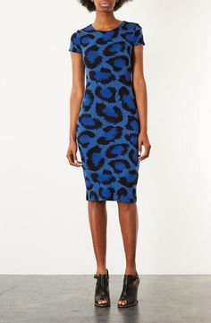 Topshop Animal Print Body-Con Dress