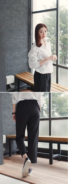 [슈가펀]구호8부와이드팬츠 guho 8 length wide pants / 8부팬츠 슬랙스팬츠 와이드팬츠 통바지 일자통바지 : 슈가펀