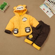 Baby boy winter clothing set,toddler outfit for photography props for children,fashion monkey hoodies winter suit for christmas(China (Mainland))
