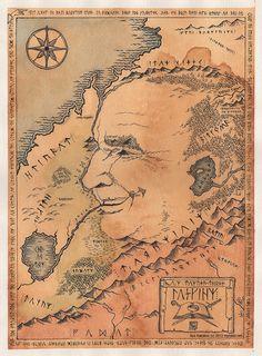Tolkien creator of Middle Earth Jrr Tolkien, Middle Earth Books, Midle Earth, John Howe, Bagginshield, O Hobbit, Hobbit Art, Old Maps, Thranduil
