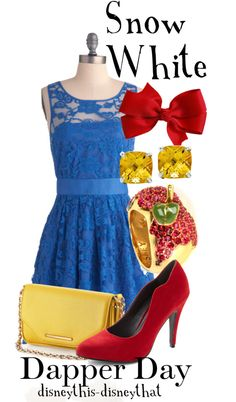 """Snow White - Dapper Day"" by disneythis-disneythat ❤ liked on Polyvore"