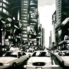 """""""Welcome to New York""""  48X48  Joëlle Blouin Artist - portfolio"""