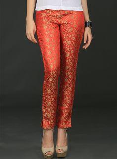 Buy Brocade Pants-medium online, Latest Brocade Pants-medium by Schwof Inc. | latest Bottoms and Pants Shopping online at Craftsvilla